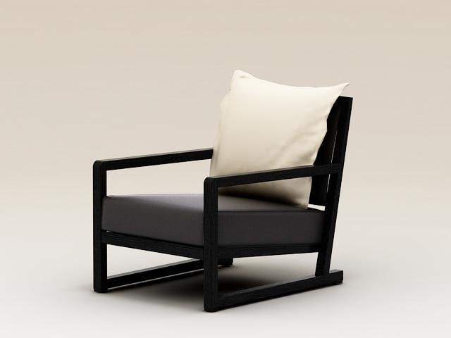 Modern Plank Armchair 3d rendering