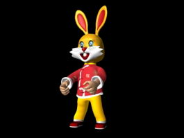 Cartoon Chinese Zodiac Rabbit 3d model preview