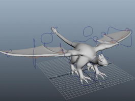 Dragon Rigged 3d preview