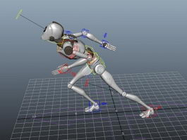 Humanoid Robot Rig 3d preview