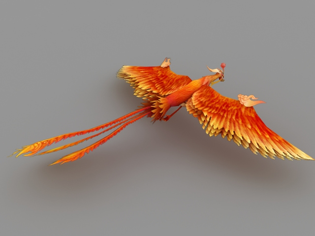 Mythical Phoenix 3d rendering