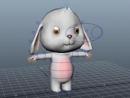 Cartoon Rabbit Rig 3d model preview