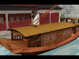 Old Chinese Boat 3d preview