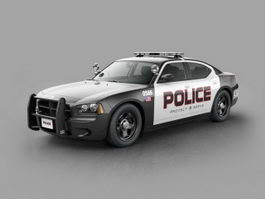 US Police Car 3d model preview
