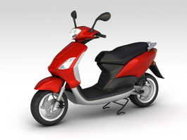 Red Moped 3d preview