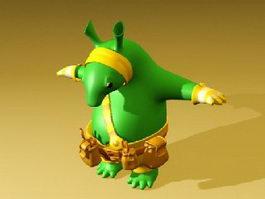 Little Monster Cartoon 3d model preview