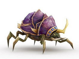 Demon Beetle Creature 3d model preview