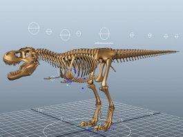 T-Rex Skeleton Rig 3d preview
