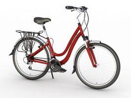 Retro Girls Bike 3d preview