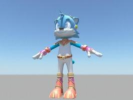 Cartoon Cat Character Rigging 3d preview