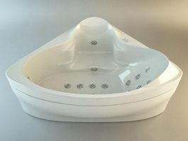 Corner Jacuzzi Bathtub 3d preview