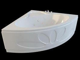 Corner Spa Tub 3d preview