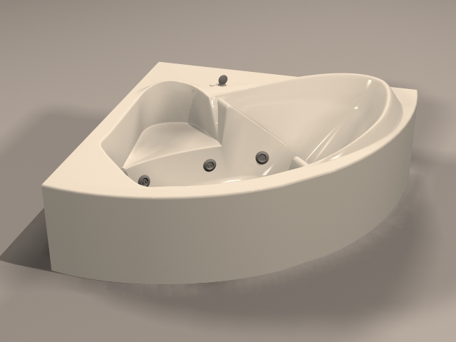 Massage Therapy Tub 3d rendering