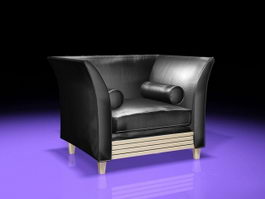 Leather Sofa Office 3d model preview