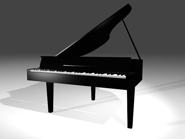 Grand Piano 3d rendering