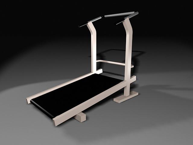 Treadmill Exercise Machine 3d rendering