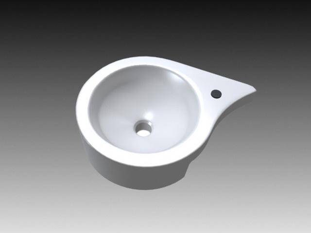 Wash Basin Bowl 3d rendering