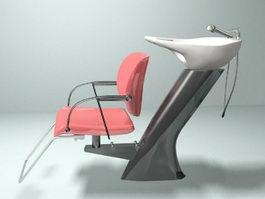Salon Shampoo Chair 3d preview