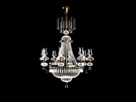 Contemporary Crystal Chandelier 3d preview