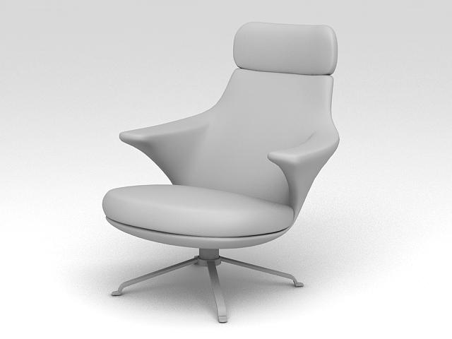 Swivel Armchair 3d rendering
