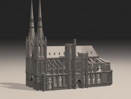 Gothic Building 3d preview