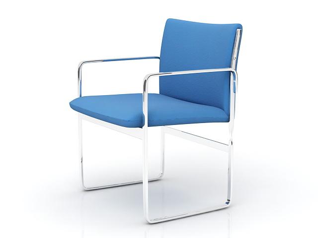 Modern Chrome Chair 3d rendering