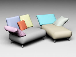 Chaise Longue Sofa 3d preview