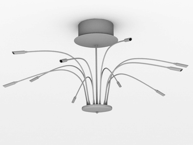 Contemporary Chandeliers 3d rendering