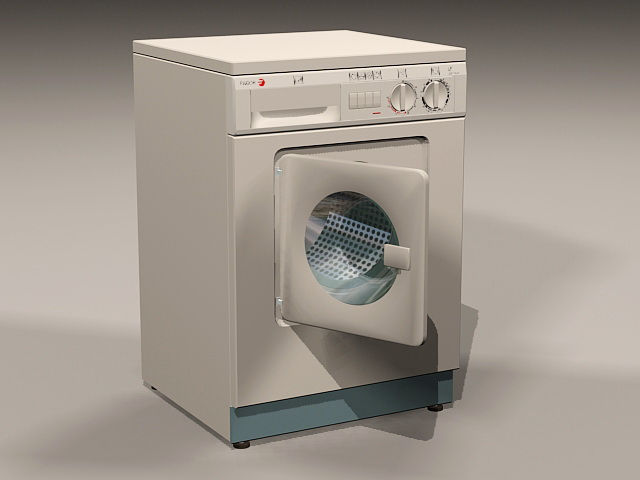 Front-loader Washing Machine 3d rendering