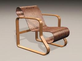 Antique Recliner Chair 3d preview