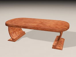 Vintage Meeting Table 3d model preview