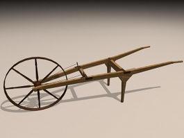 Vintage Wheelbarrow 3d preview