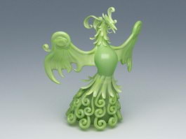 Jade Phoenix Sculpture 3d preview