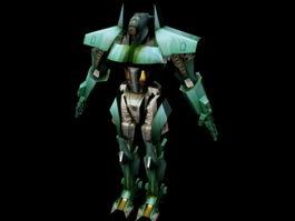 Green Gundam 3d model preview
