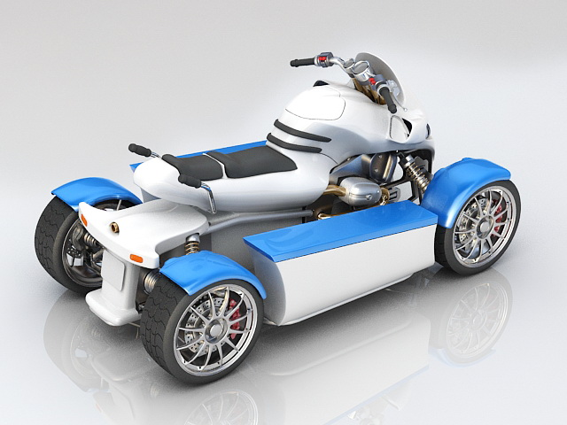 ATV Quad Bike 3d rendering