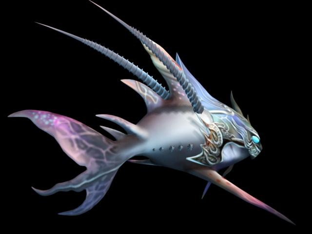 Fish Monster Rig 3d rendering