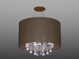 Drum Chandelier with Crystals 3d preview