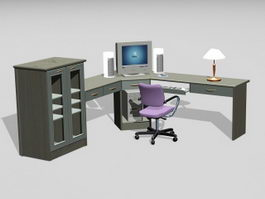 Home Office Furniture 3d preview