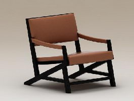 Wood Club Chair 3d preview