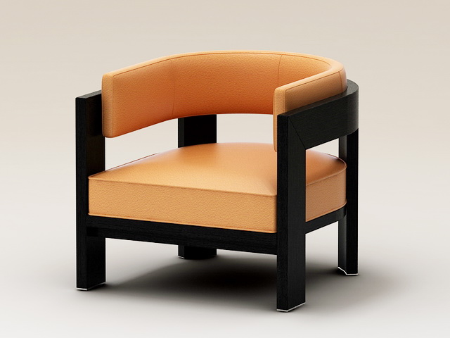 Modern Leather Armchair 3d rendering