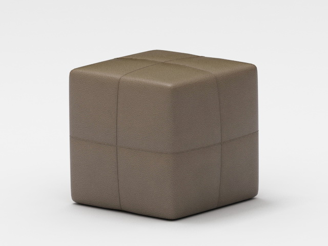 Cube Ottoman 3d rendering