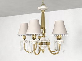 Colonial Chandelier 3d model preview