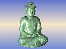 Stone Buddha Statue 3d model preview