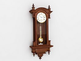 Antique Wall Clock 3d preview