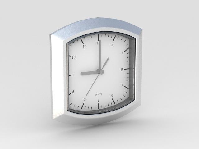 Quartz Clock 3d rendering
