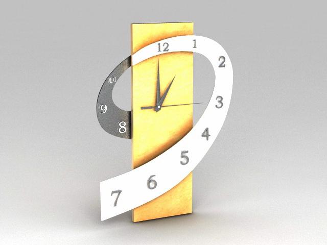 Art Deco Desk Clock 3d rendering