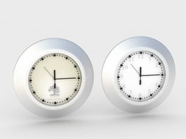 Small Desk Clocks 3d model preview