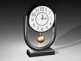 Retro Desk Clock 3d model preview