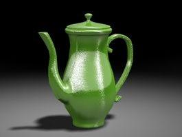 Green Teapot 3d preview