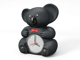 Black Bear Clock 3d model preview